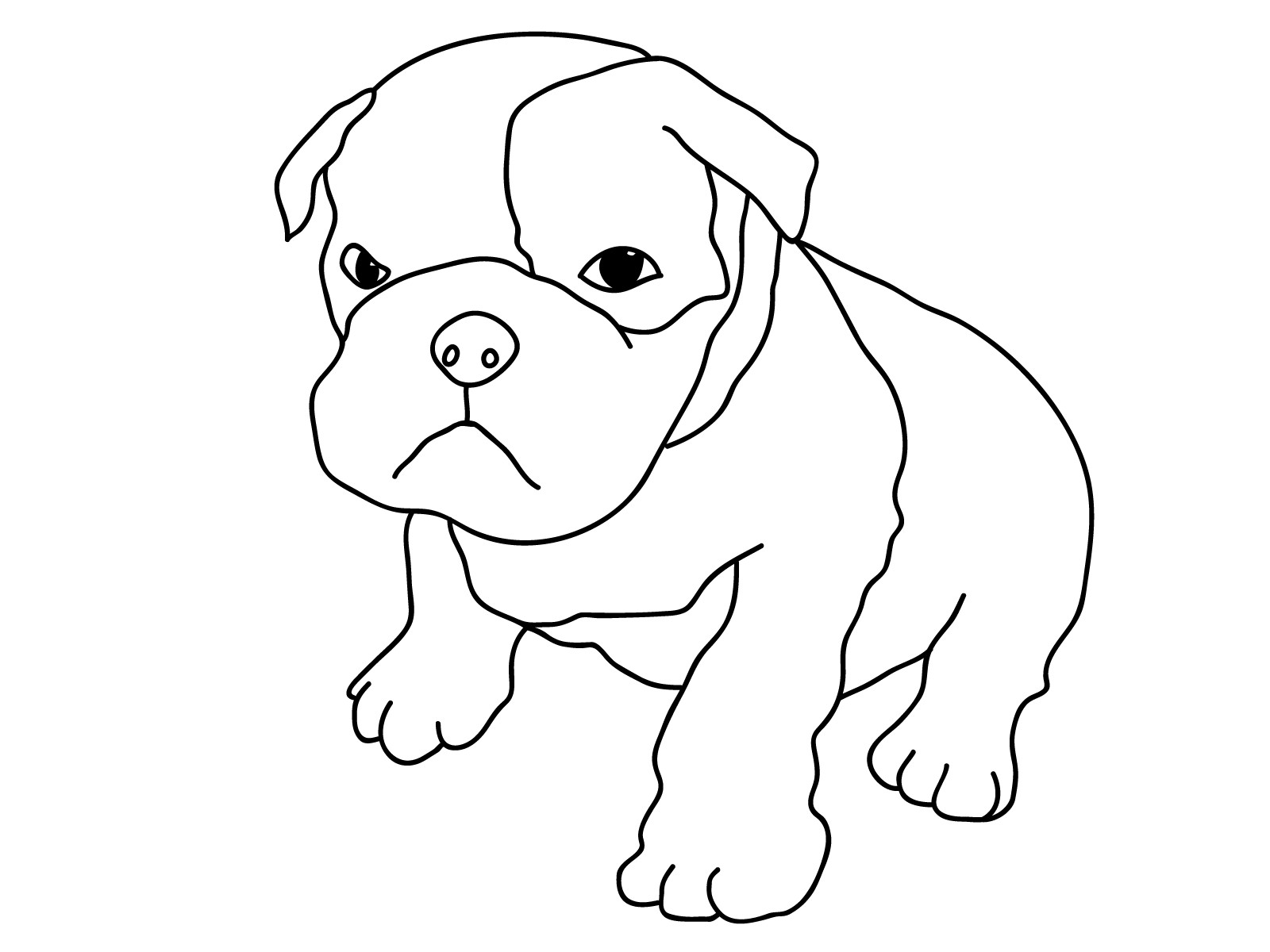 Best ideas about Coloring Pages For Kids Printable Dogs . Save or Pin Free Printable Dog Coloring Pages For Kids Now.