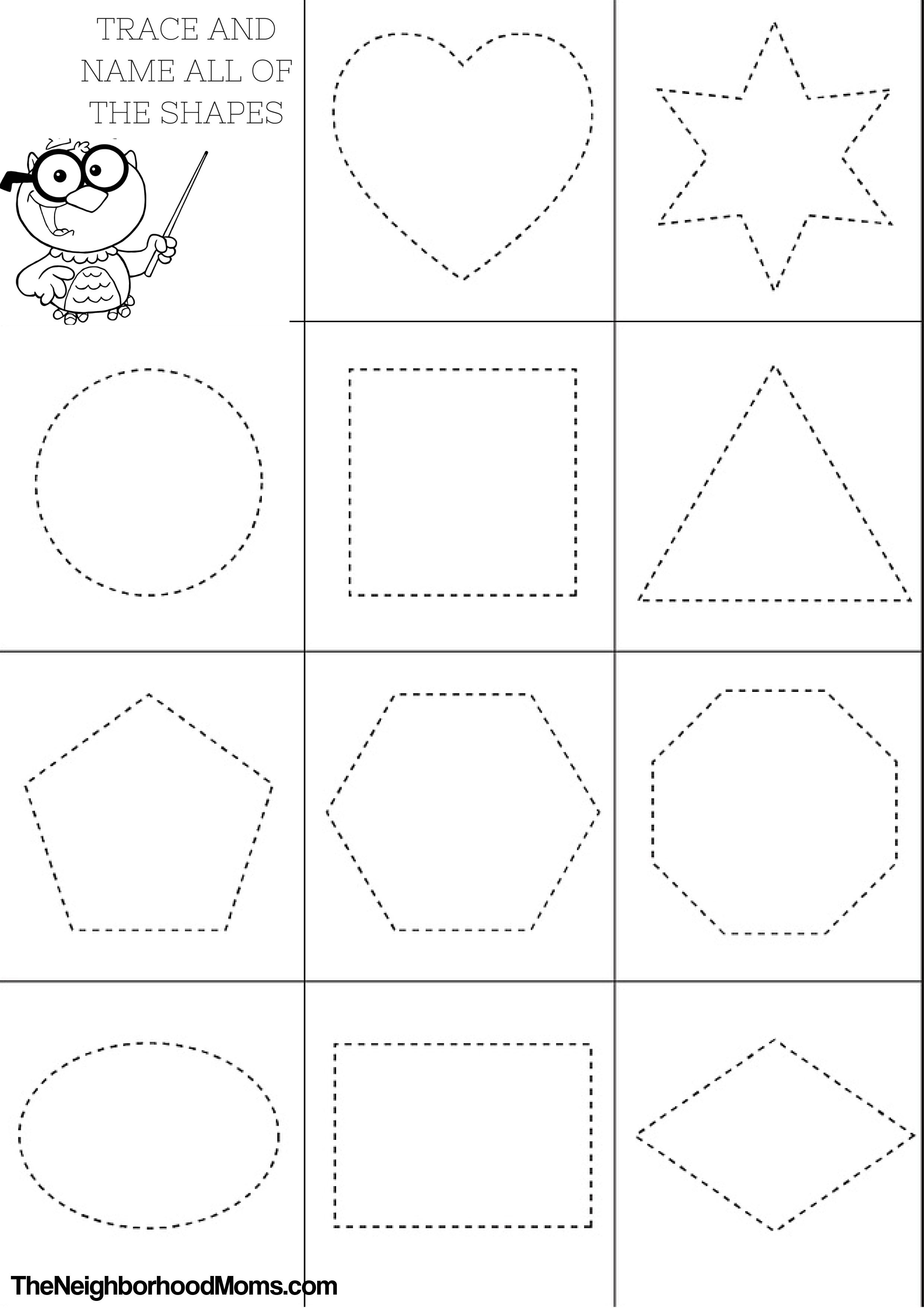 Best ideas about Coloring Pages For Kids Shapes . Save or Pin Shapes Coloring Pages Printable The Neighborhood Moms Now.