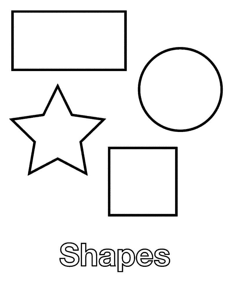 Best ideas about Coloring Pages For Kids Shapes . Save or Pin Shapes Coloring Pages Kidsuki Now.