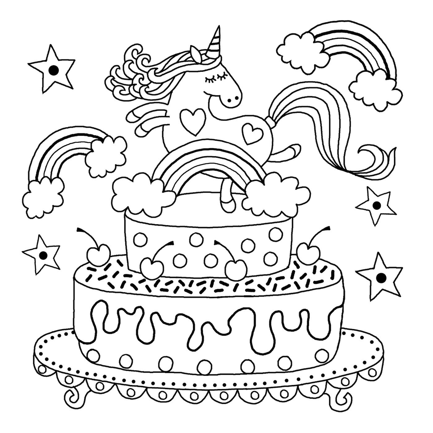 Best ideas about Coloring Pages For Kids To Print Unicorn . Save or Pin Downloadable unicorn colouring page Michael O Mara Books Now.