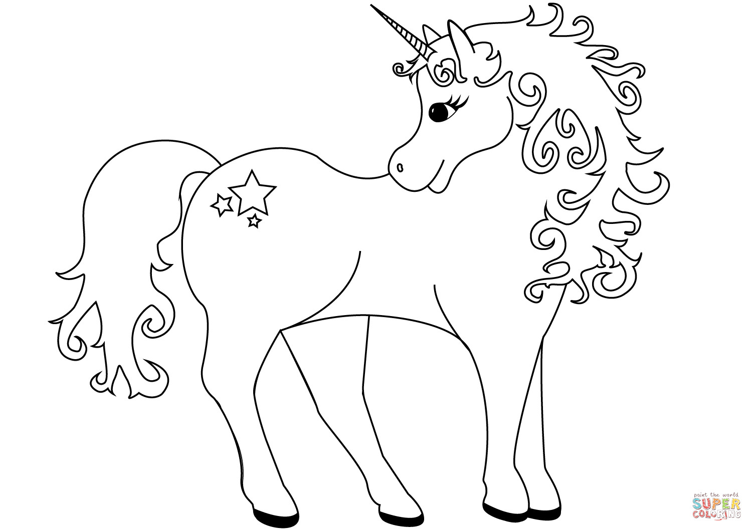 Best ideas about Coloring Pages For Kids To Print Unicorn . Save or Pin Lovely Unicorn coloring page Now.