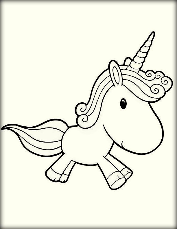 Best ideas about Coloring Pages For Kids To Print Unicorn . Save or Pin Cute Unicorn Coloring Pages for Kids Color Zini Now.
