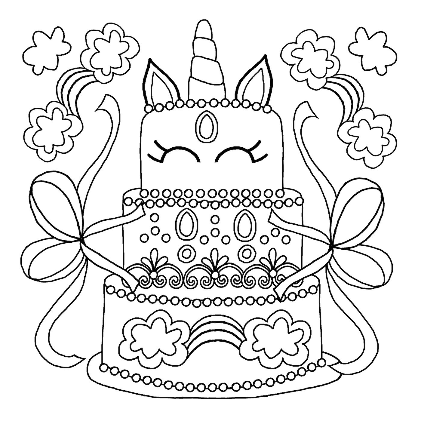 Best ideas about Coloring Pages For Kids To Print Unicorn . Save or Pin unicorn colouring book pages 3 Michael O Mara Books Now.