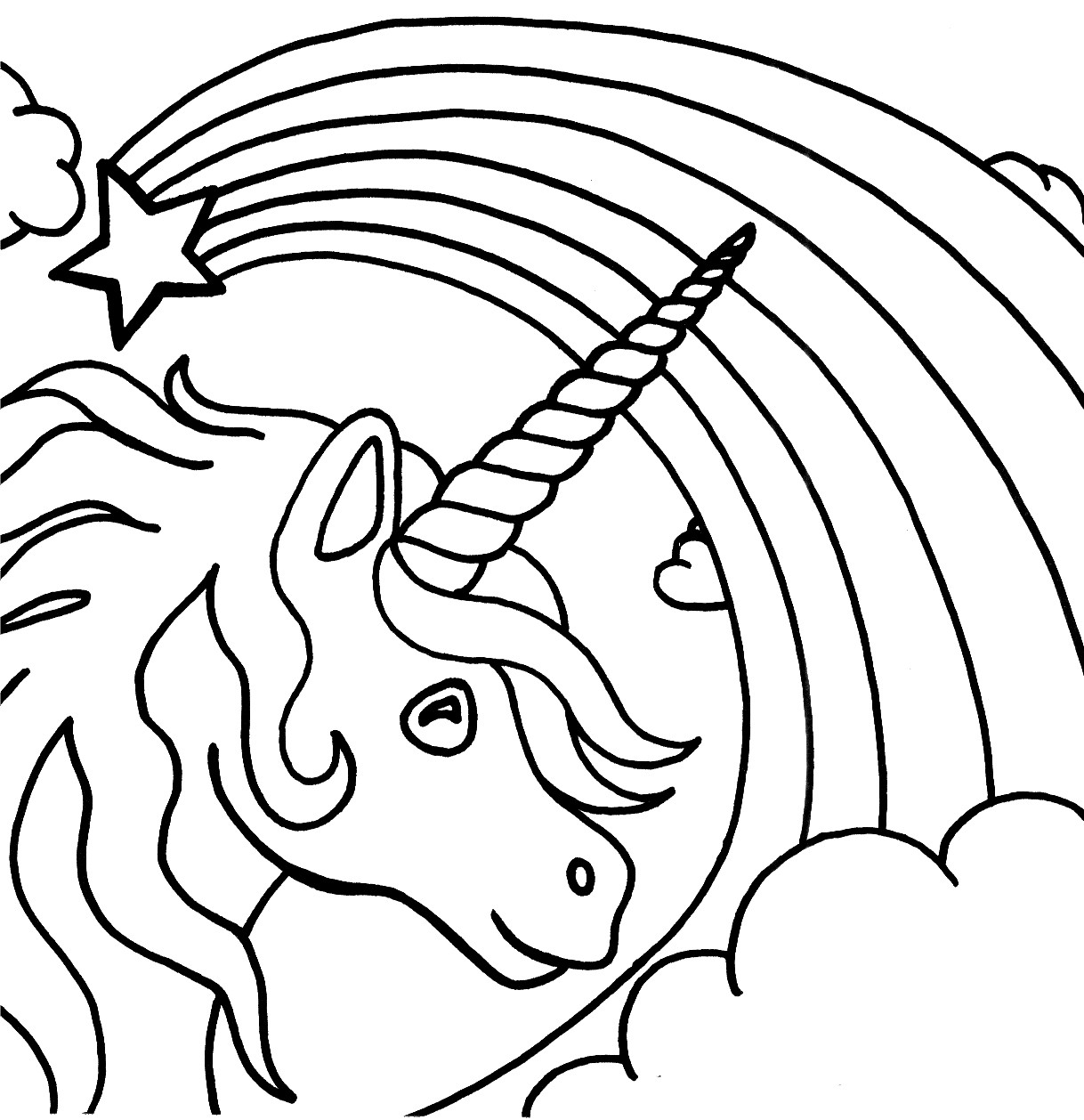 Best ideas about Coloring Pages For Kids To Print Unicorn . Save or Pin Free Printable Unicorn Coloring Pages For Kids Now.