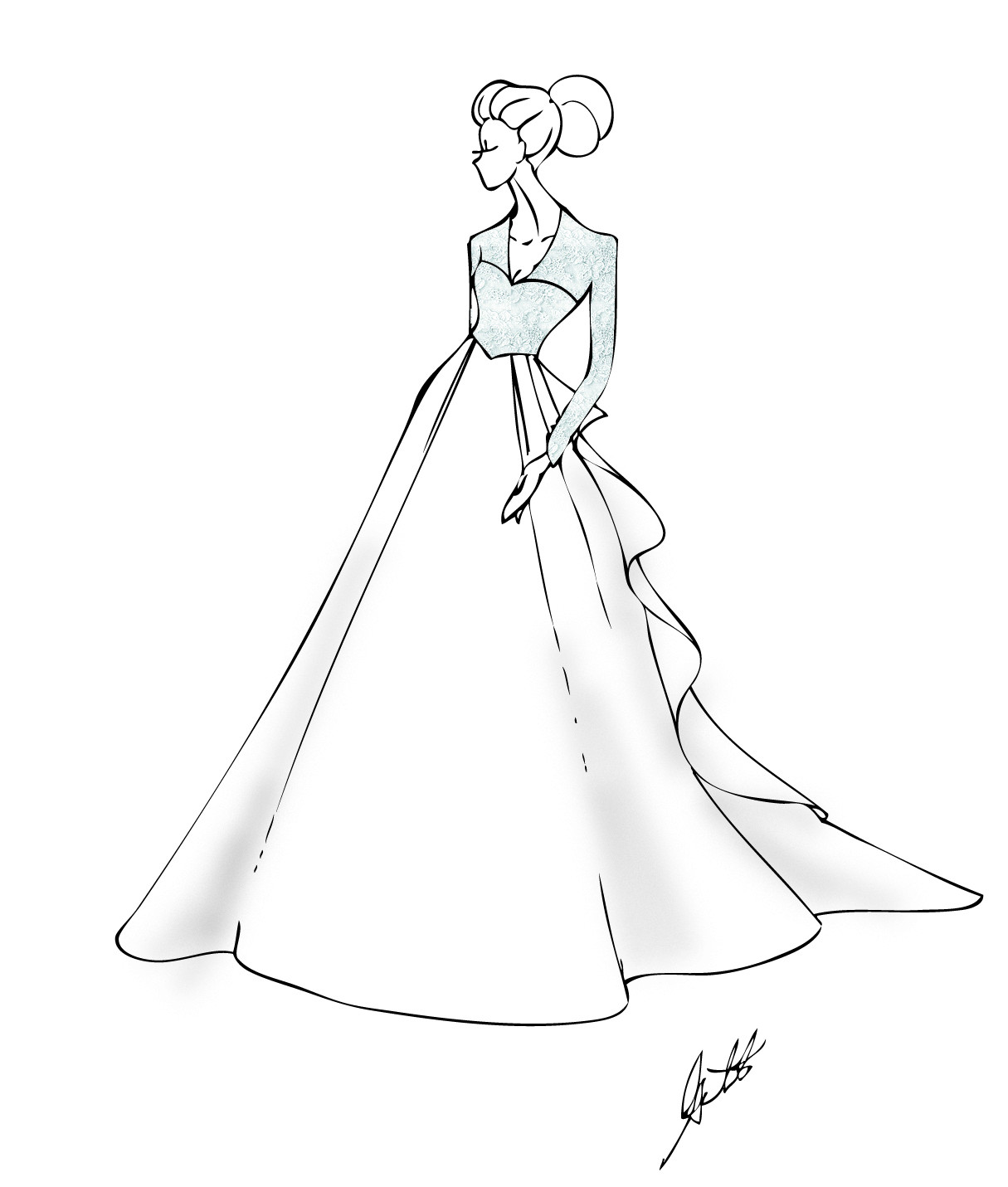 Best ideas about Coloring Pages For Teens Jingel Dress Dancer . Save or Pin Prom Dresses Drawing at GetDrawings Now.