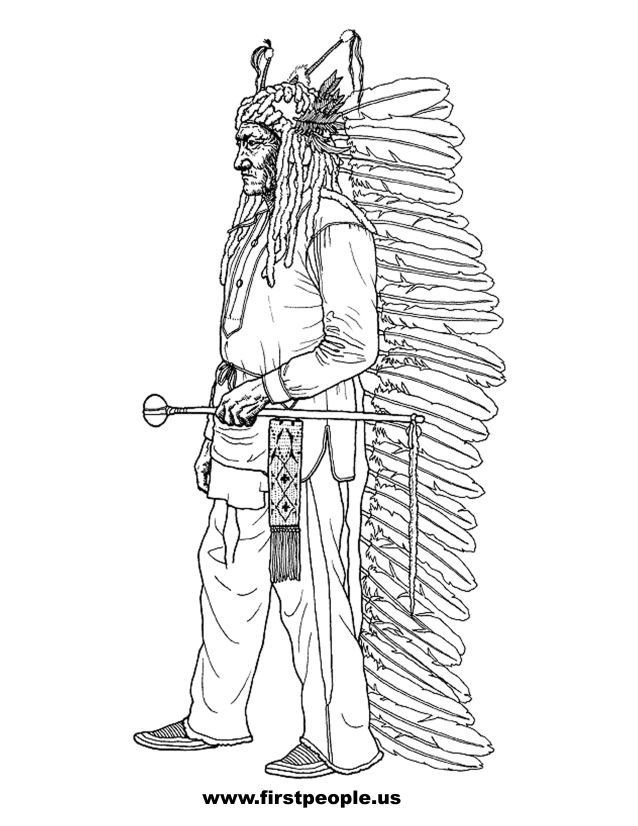 """Best ideas about Coloring Pages For Teens Jingel Dress Dancer . Save or Pin iColor """"Indian Lore"""" Sitting Bull Now."""