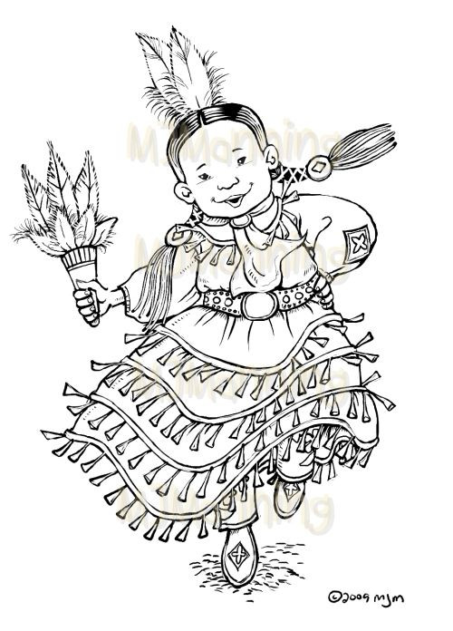 Best ideas about Coloring Pages For Teens Jingel Dress Dancer . Save or Pin Jingle Dancer too cute Now.