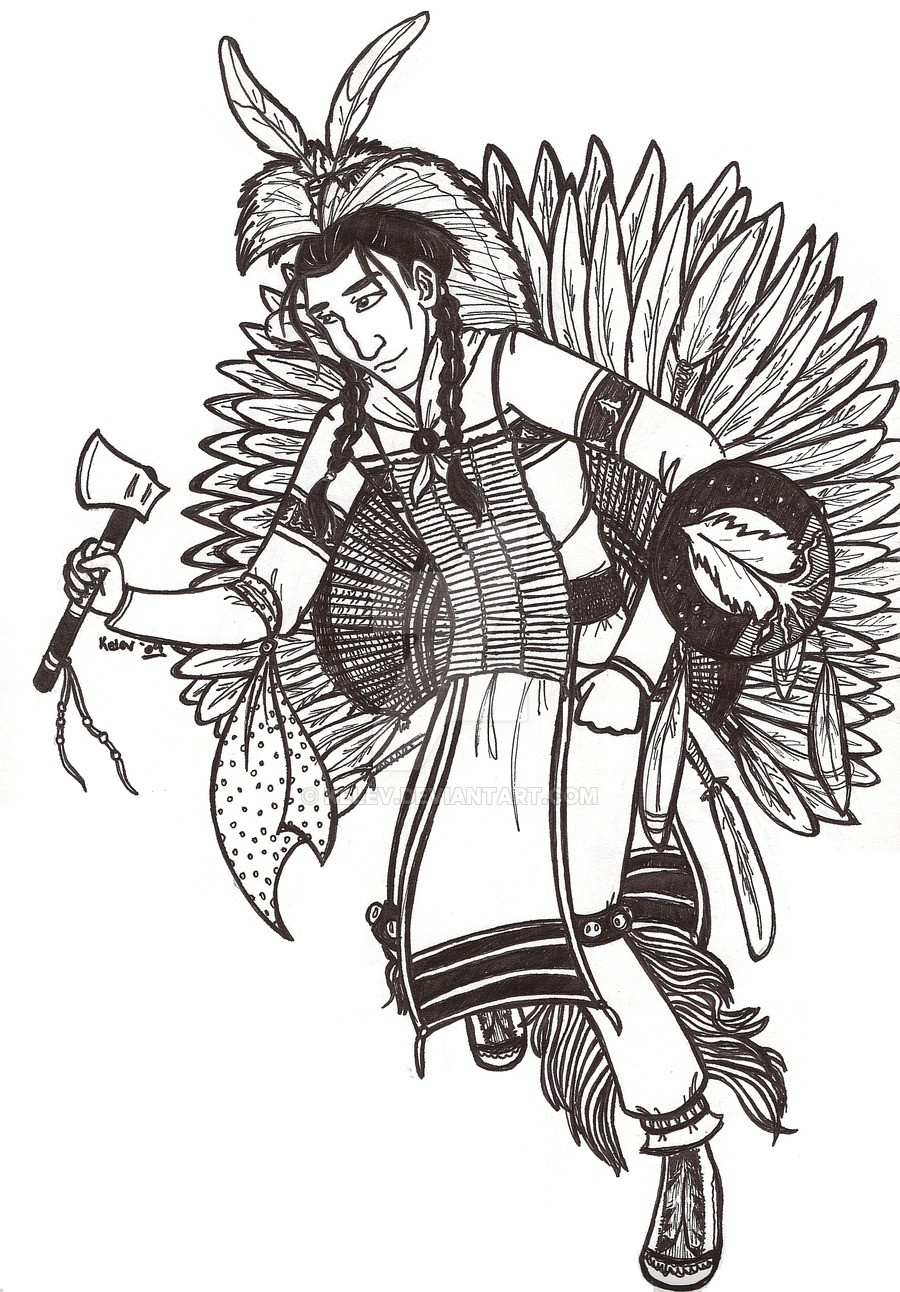 Best ideas about Coloring Pages For Teens Jingel Dress Dancer . Save or Pin Jesse Line Art Ojibwe Pow Wow by Kelev on DeviantArt Now.