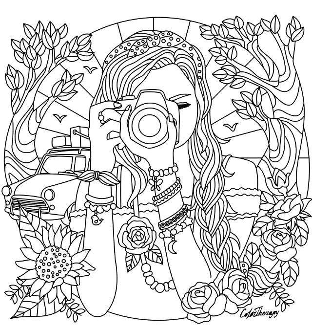 Best ideas about Coloring Pages For Teens Paris . Save or Pin Camera Coloring Pages Girl With A Camera Coloring Page Now.