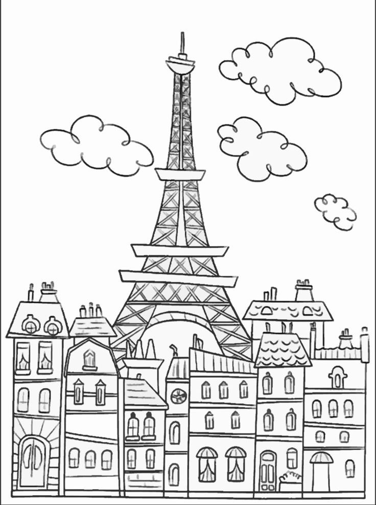 Best ideas about Coloring Pages For Teens Paris . Save or Pin 1000 images about Paris coloring pages on Pinterest Now.