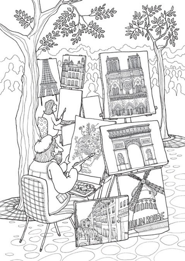 Best ideas about Coloring Pages For Teens Paris . Save or Pin 913 best Coloring Pages Miscellaneous images on Now.