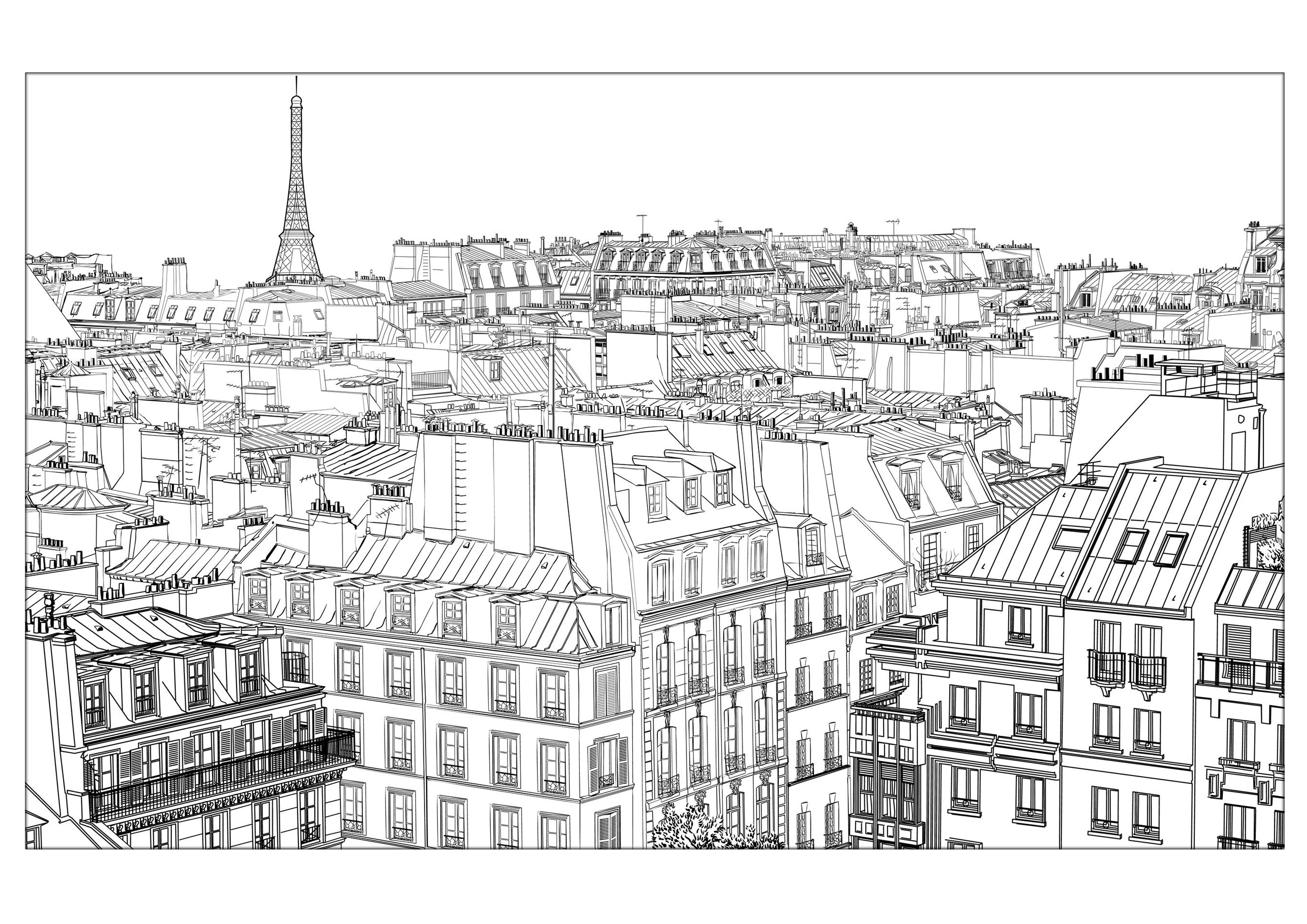 Best ideas about Coloring Pages For Teens Paris . Save or Pin Paris Coloring pages for adults coloring page adults Now.