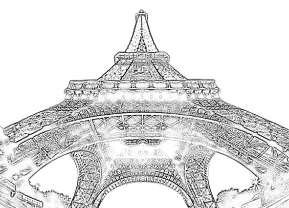 Best ideas about Coloring Pages For Teens Paris . Save or Pin tour eiffel paris Adult teen coloring pages Now.