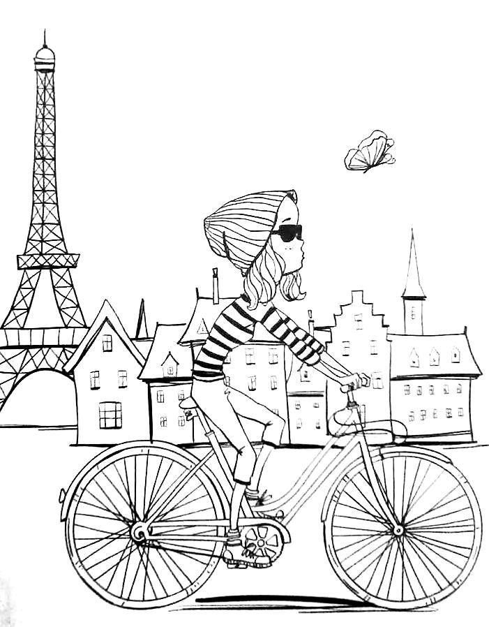 Best ideas about Coloring Pages For Teens Paris . Save or Pin Revista Vida simples colorir adult coloring pages Paris Now.