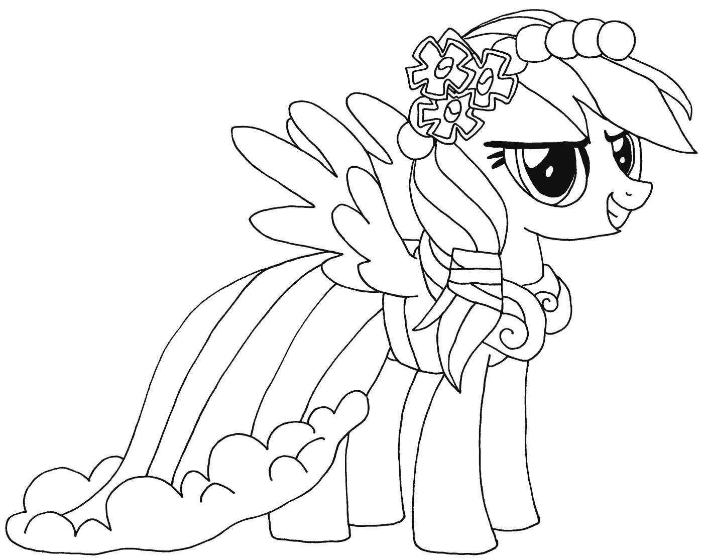 Best ideas about Coloring Sheets For Girls 8-10 . Save or Pin Rainbow Dash coloring pages to and print for free Now.