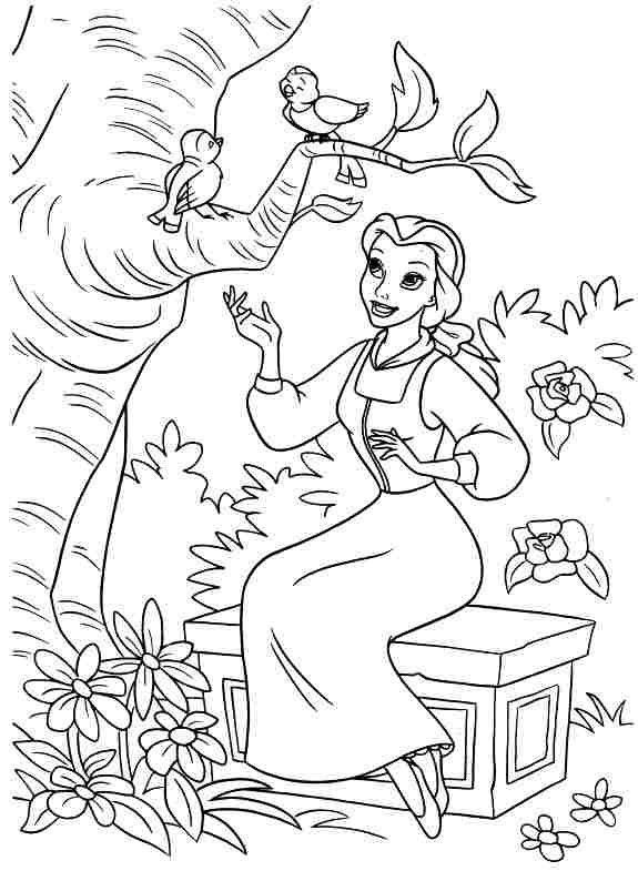 Best ideas about Coloring Sheets For Girls Beauty And The Beast . Save or Pin Tale as Old as Time Now.