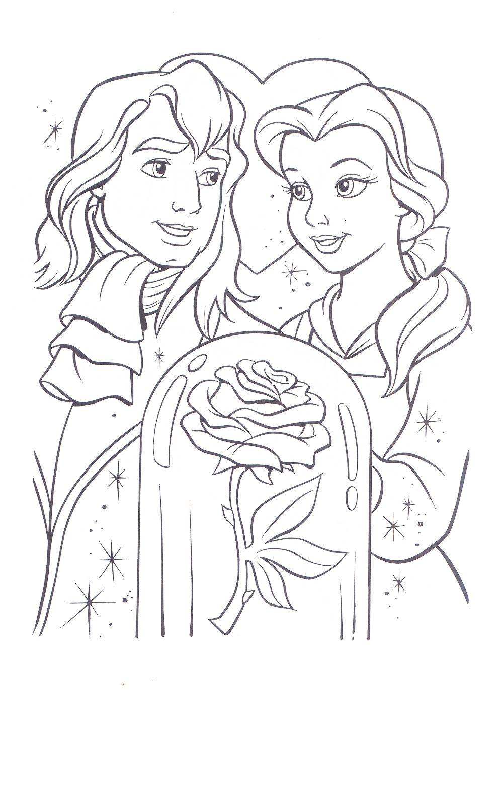 Best ideas about Coloring Sheets For Girls Beauty And The Beast . Save or Pin Beauty and The Beast Coloring Page Now.