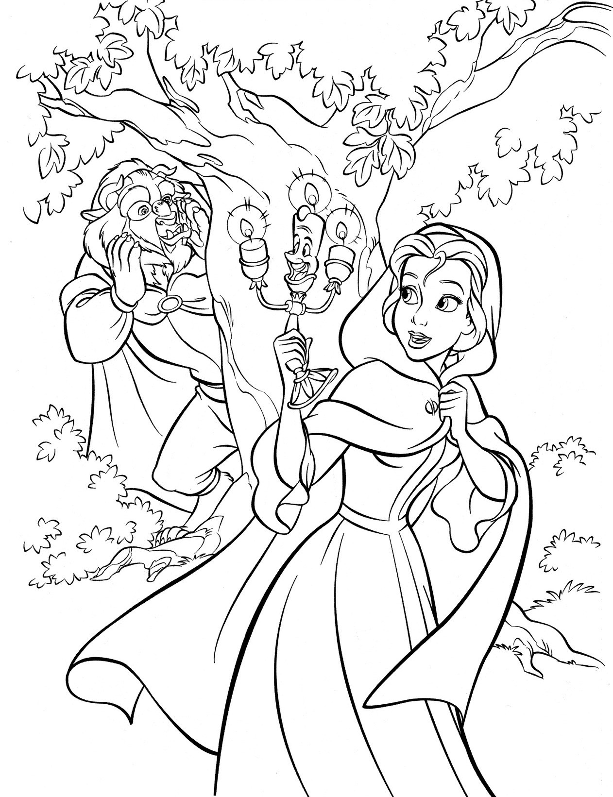 Best ideas about Coloring Sheets For Girls Beauty And The Beast . Save or Pin Walt Disney Cute Kawaii Resources Now.