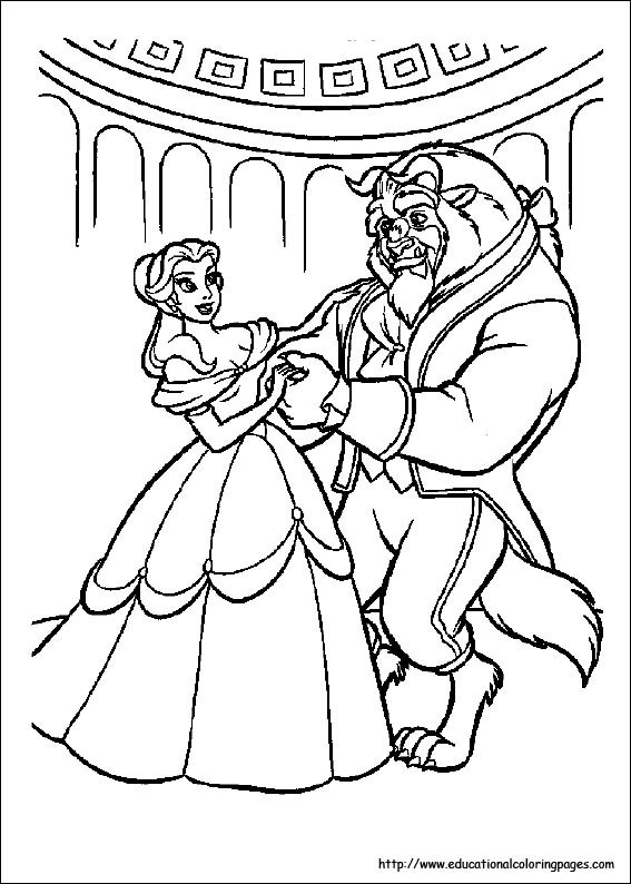 Best ideas about Coloring Sheets For Girls Beauty And The Beast . Save or Pin Beauty and Beast Coloring Pages free For Kids Now.