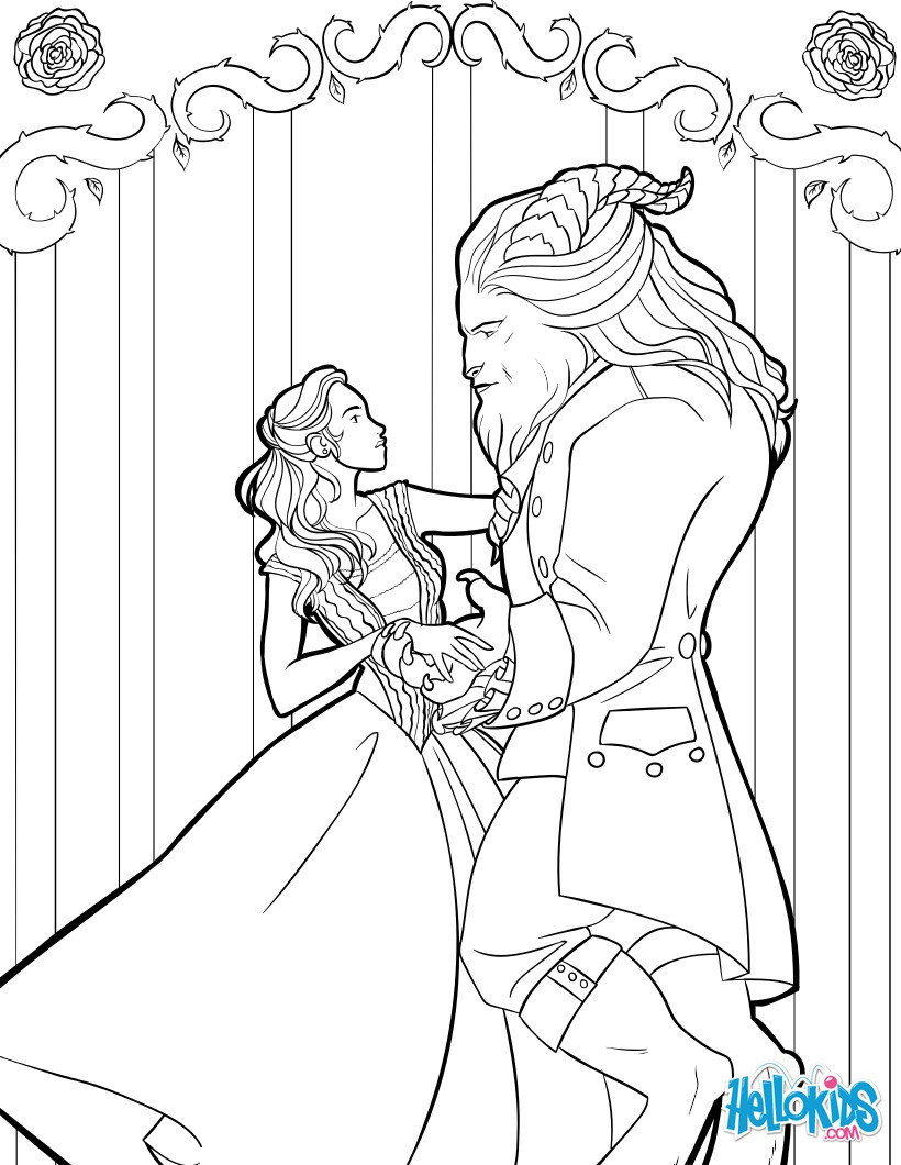 Best ideas about Coloring Sheets For Girls Beauty And The Beast . Save or Pin Beauty and the beast coloring pages Hellokids Now.