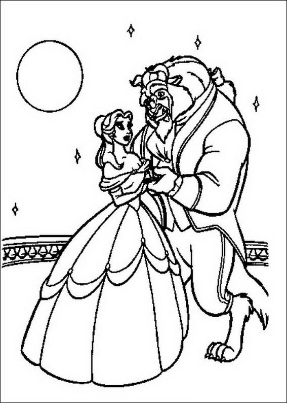 Best ideas about Coloring Sheets For Girls Beauty And The Beast . Save or Pin Free Beauty and The Beast Coloring Pages Now.
