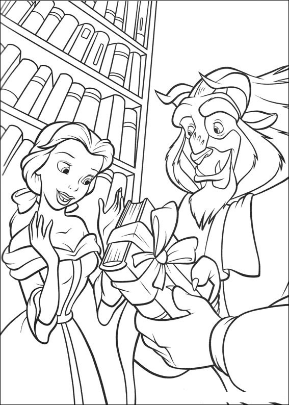 Best ideas about Coloring Sheets For Girls Beauty And The Beast . Save or Pin Free Printable Beauty And The Beast Coloring Pages For Kids Now.