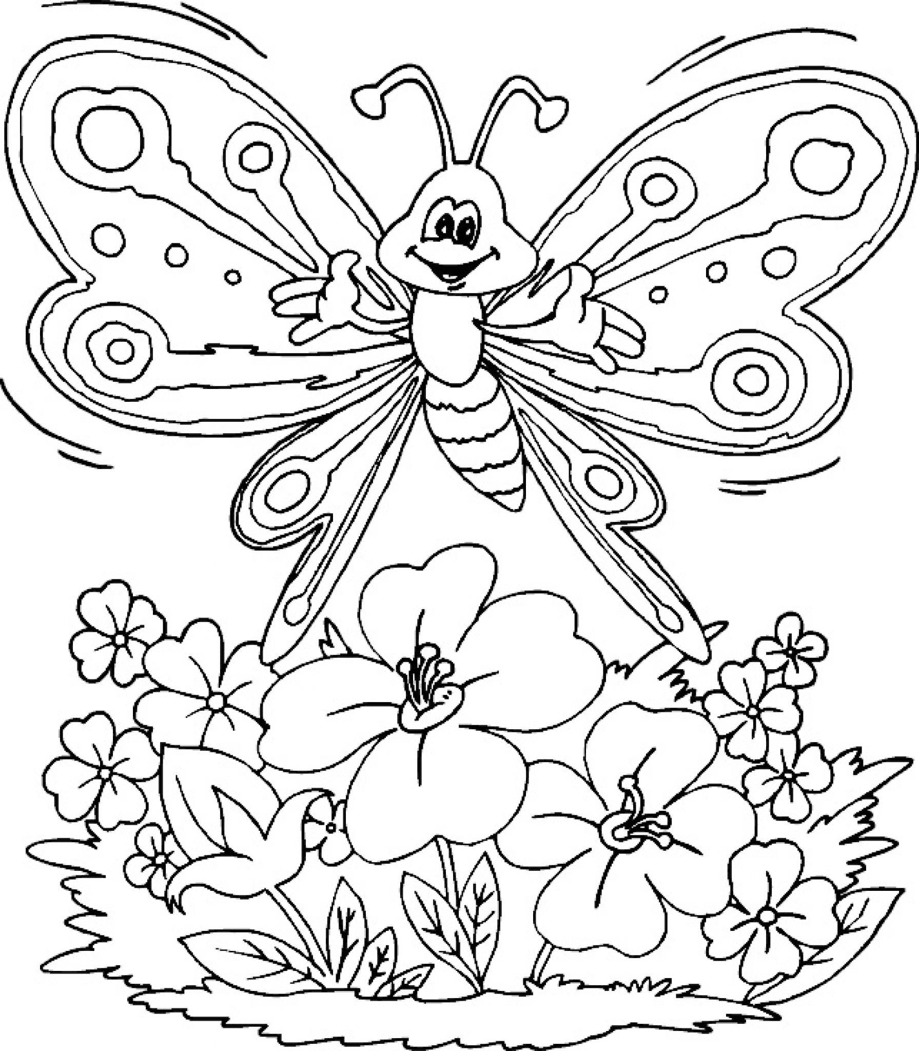 Best ideas about Coloring Sheets For Girls Butterfly . Save or Pin Jarn omalovánky Návody pro tvořen Now.