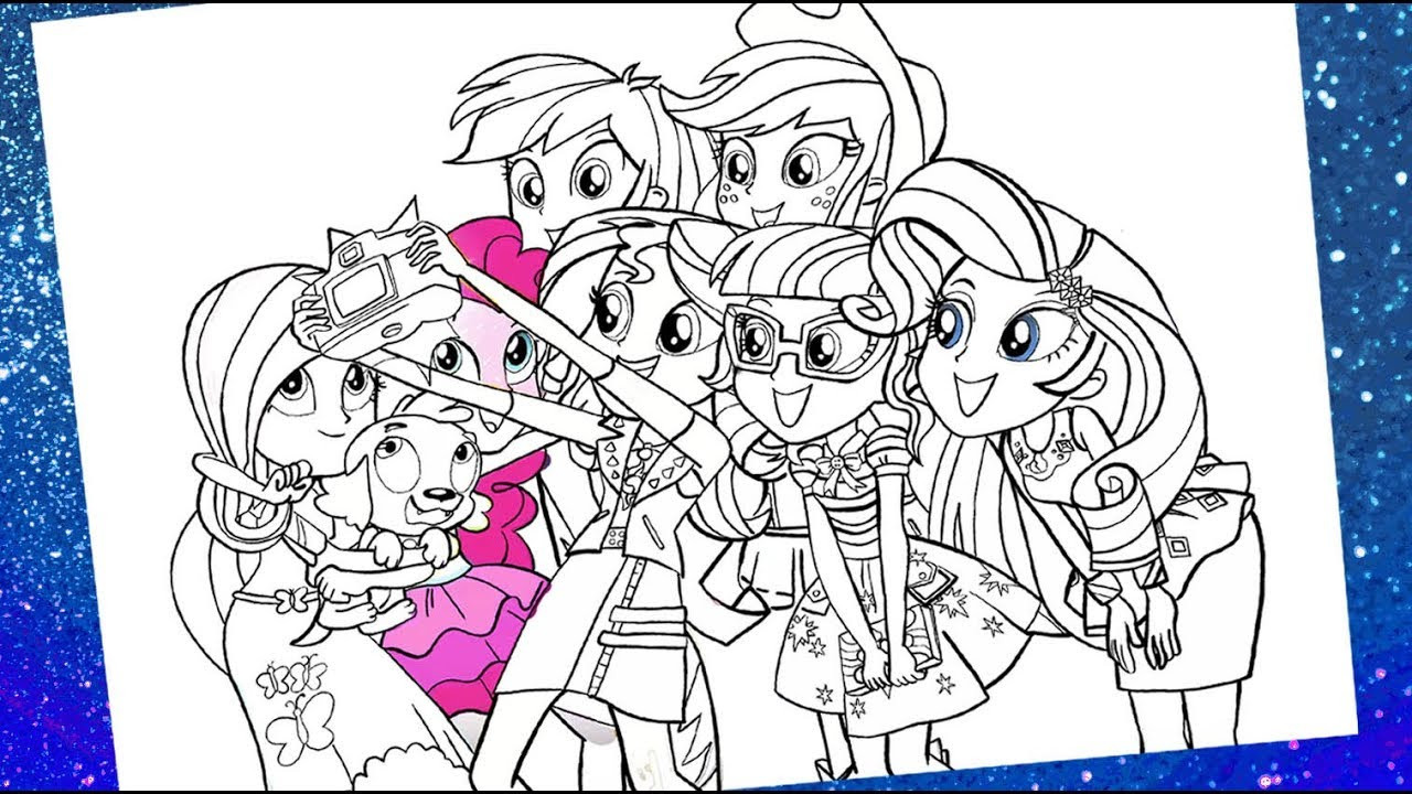 Best ideas about Coloring Sheets For Girls Little Pony . Save or Pin My little pony Equestria girls coloring pages for kids Now.