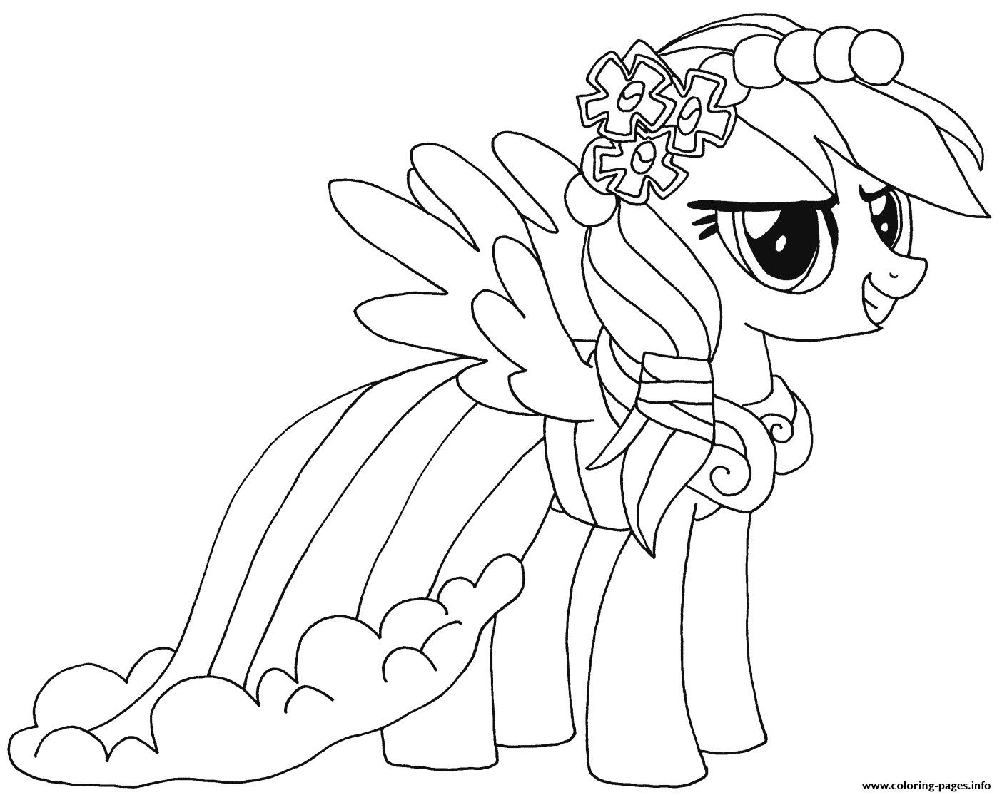 Best ideas about Coloring Sheets For Girls Little Pony . Save or Pin Rainbow Dash My Little Pony Coloring Pages Printable Now.
