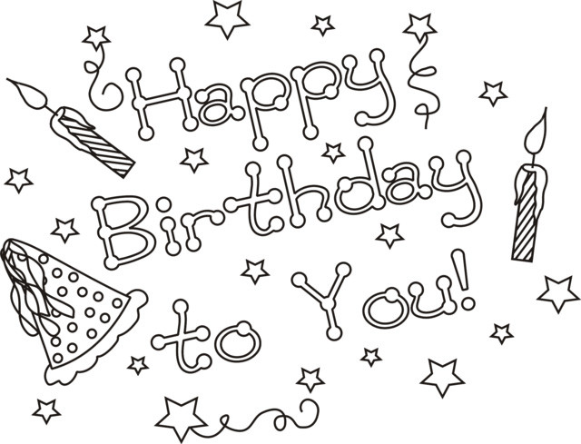 Best ideas about Coloring Sheets For Girls The Birthday . Save or Pin Happy Birthday Coloring Pages Now.