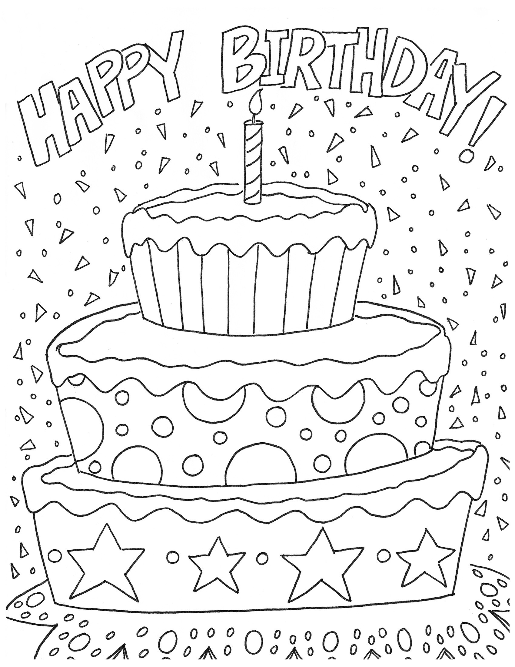 Best ideas about Coloring Sheets For Girls The Birthday . Save or Pin Birthday Coloring Pages coloringsuite Now.