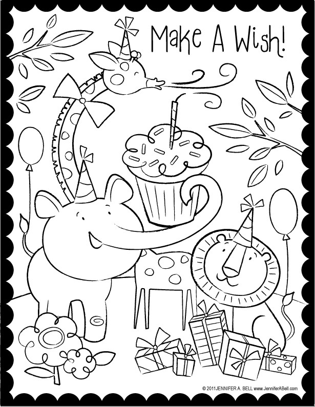 Best ideas about Coloring Sheets For Girls The Birthday . Save or Pin We Love to Illustrate August FREE Downloadable Coloring Now.