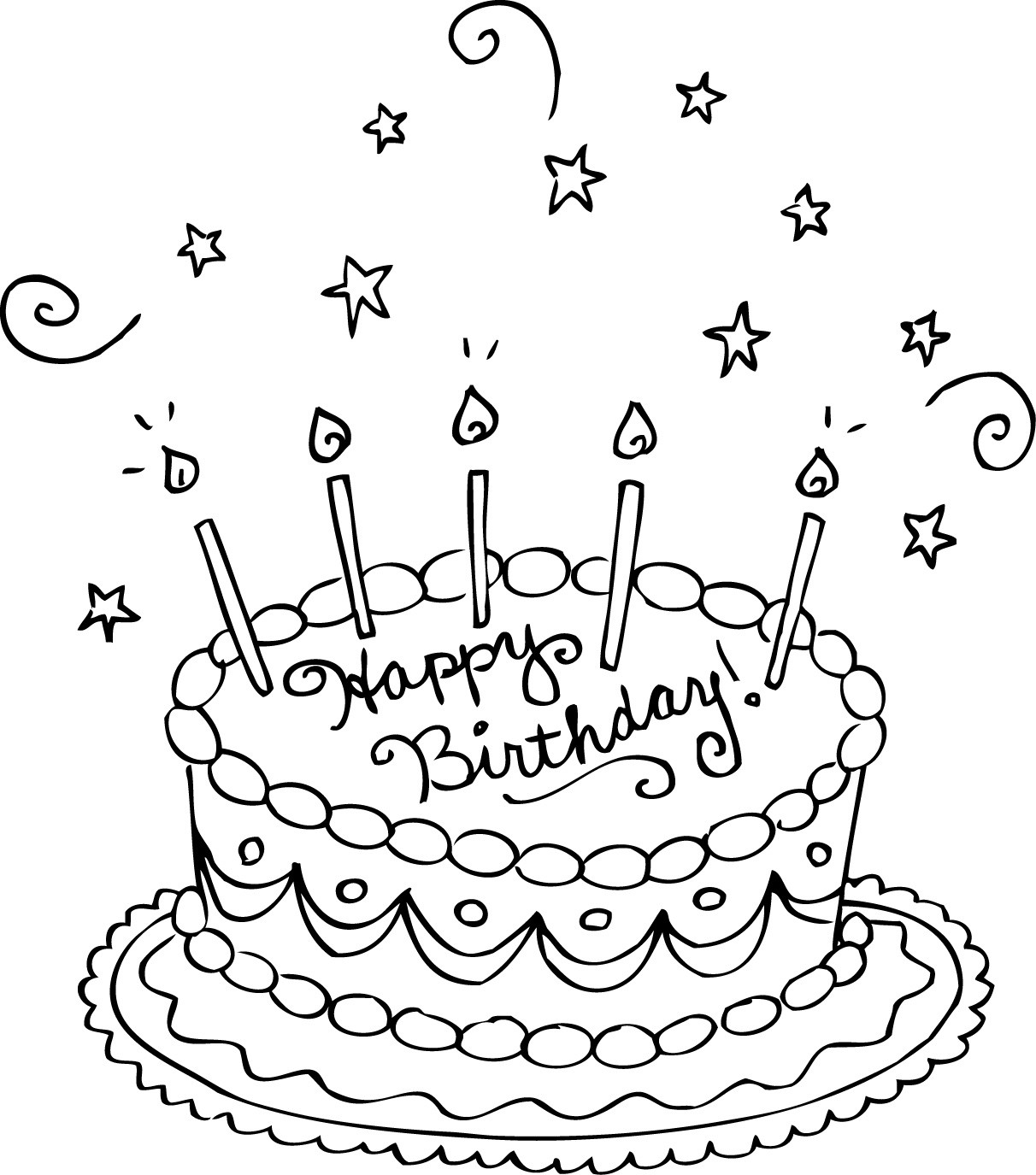 Best ideas about Coloring Sheets For Girls The Birthday . Save or Pin Free Printable Birthday Cake Coloring Pages For Kids Now.