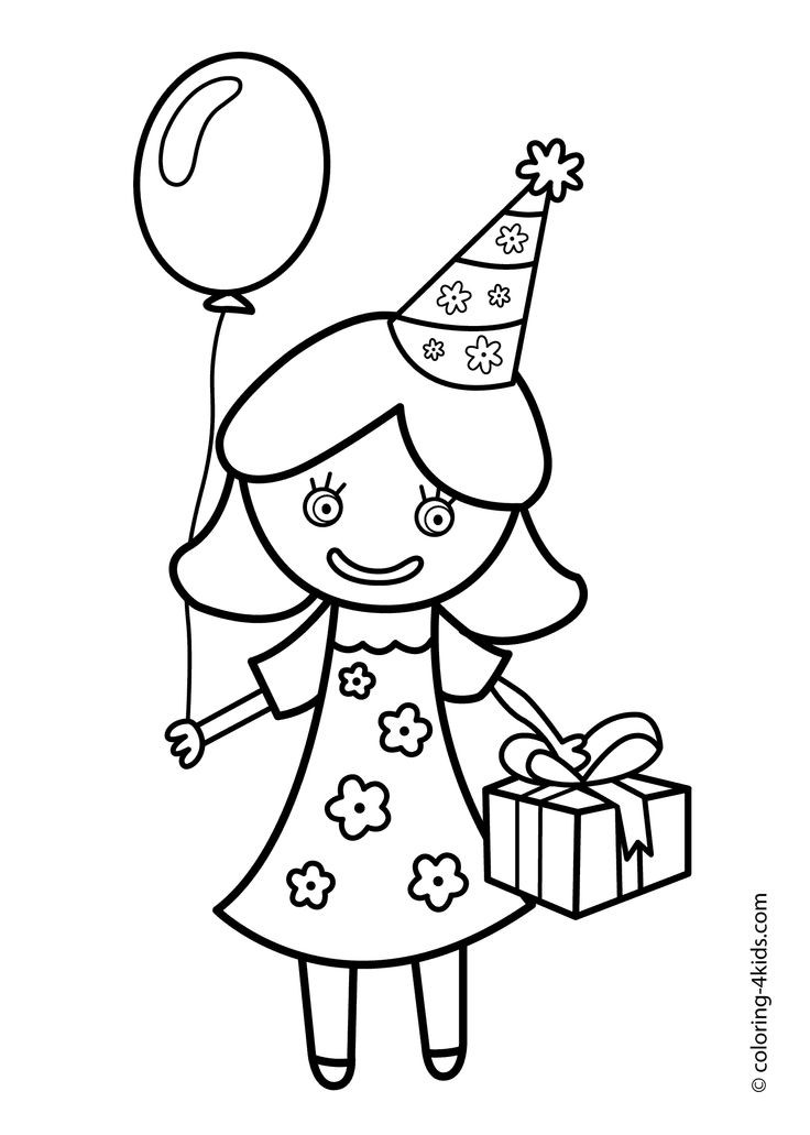 Best ideas about Coloring Sheets For Girls The Birthday . Save or Pin 20 best images about Birthday coloring pages on Pinterest Now.