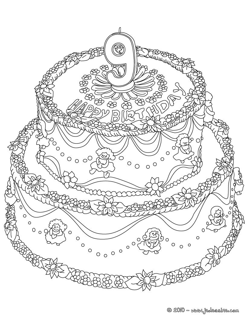 Best ideas about Coloring Sheets For Girls The Birthday Winipoo . Save or Pin Coloriages coloriage 9 ans fr hellokids Now.