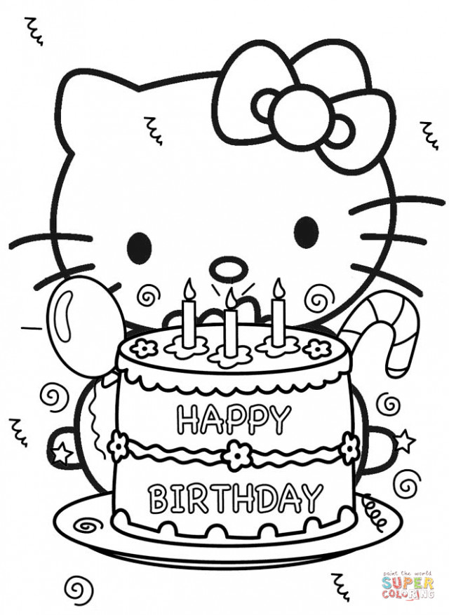 Best ideas about Coloring Sheets For Girls The Birthday Winipoo . Save or Pin Черно белые картинки С Днем Рождения 21 фото Now.
