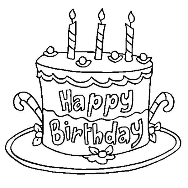 Best ideas about Coloring Sheets For Girls The Birthday Winipoo . Save or Pin Happy Birthday Coloring Pages Cake Now.