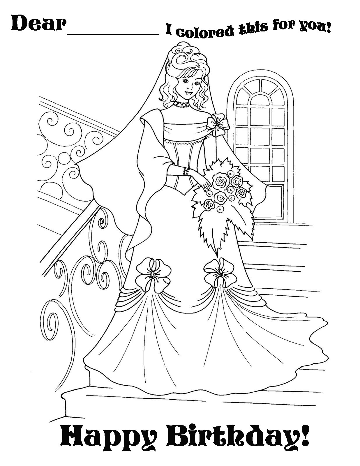 Best ideas about Coloring Sheets For Girls The Birthday Winipoo . Save or Pin Happy Birthday Coloring Pages coloringsuite Now.