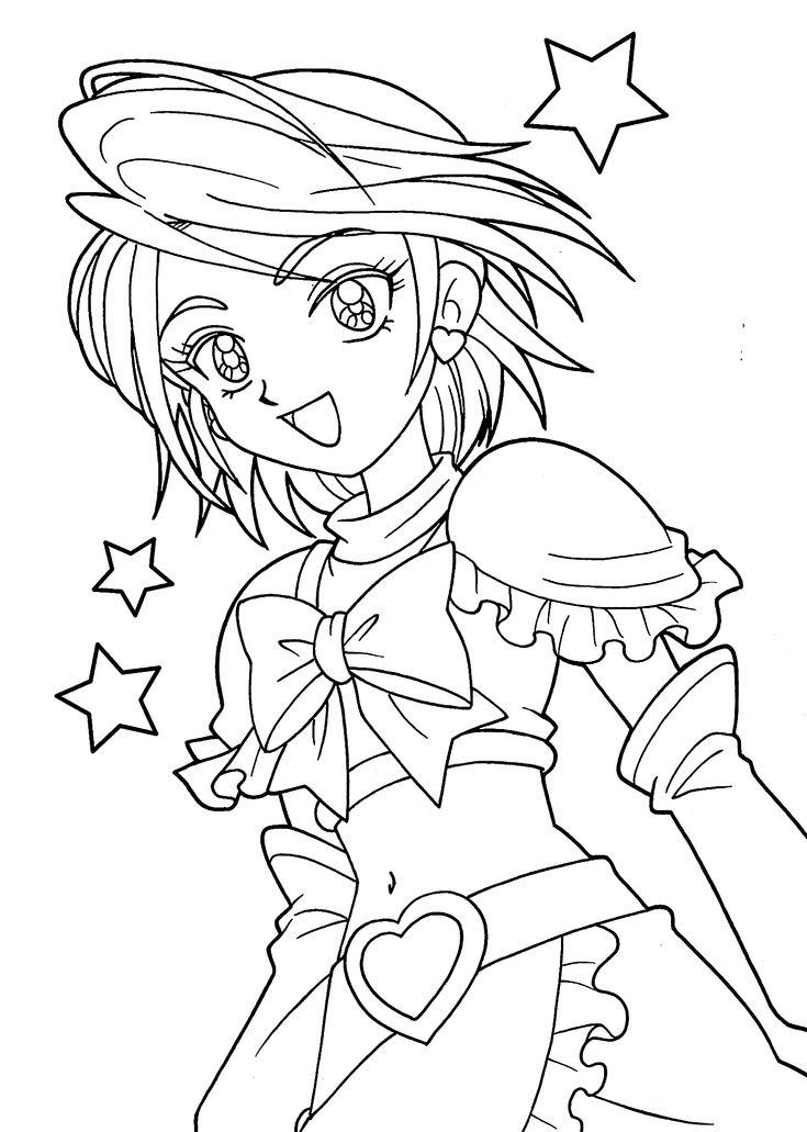 Best ideas about Coloring Sheets For Girls. To Print . Save or Pin Pretty cure coloring pages for girls printable free Now.