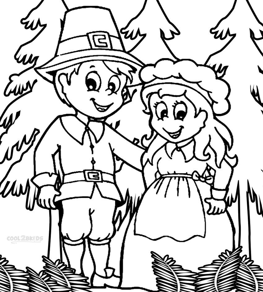 Best ideas about Coloring Sheets For Kids Free . Save or Pin Free Printable Pilgrim Coloring Pages for Kids Best Now.