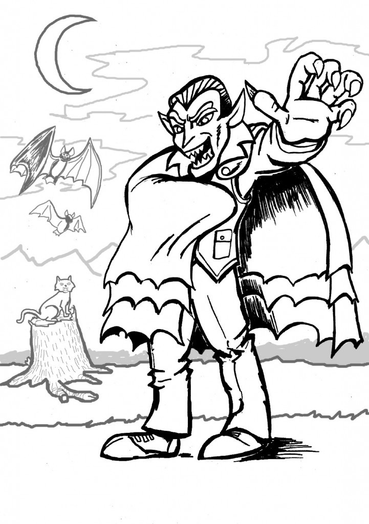 Best ideas about Coloring Sheets For Kids Free . Save or Pin Free Printable Vampire Coloring Pages For Kids Now.