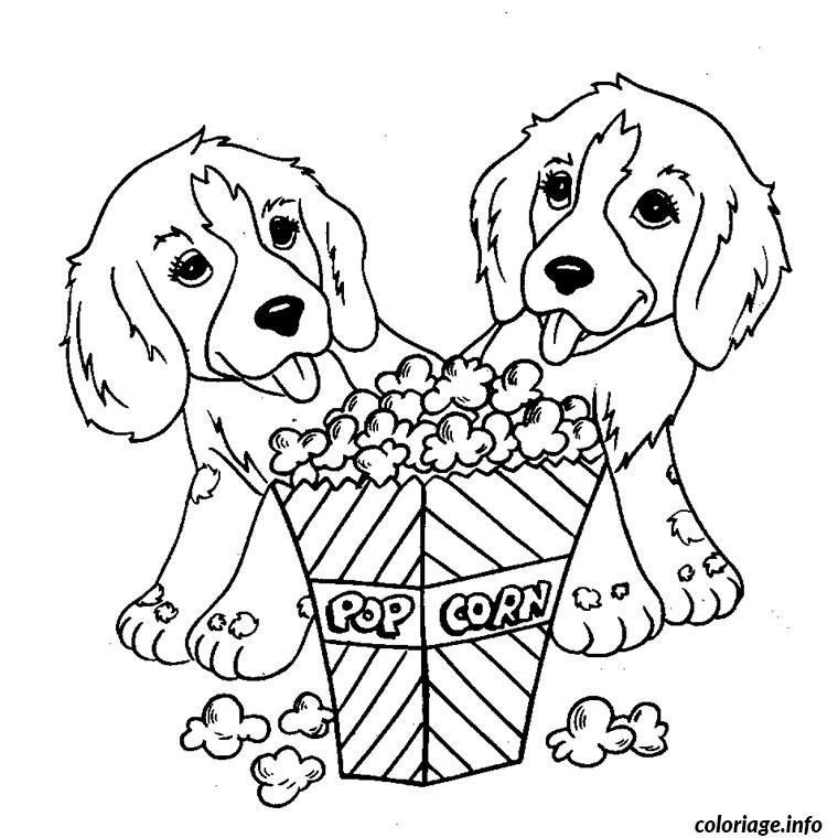 Best ideas about Coloring Sheets For Kids Lisa Fr A Nk . Save or Pin Coloriage petits chiens pop corn Dessin à Imprimer Now.