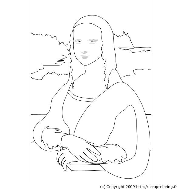 Best ideas about Coloring Sheets For Kids Lisa Fr A Nk . Save or Pin ment dessiner la joconde Now.