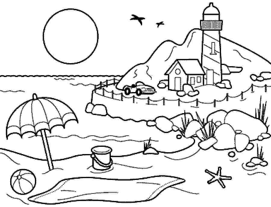 Best ideas about Coloring Sheets For Kids Summer Vacation . Save or Pin Coloring Pages summer season pictures for kids drawing Now.