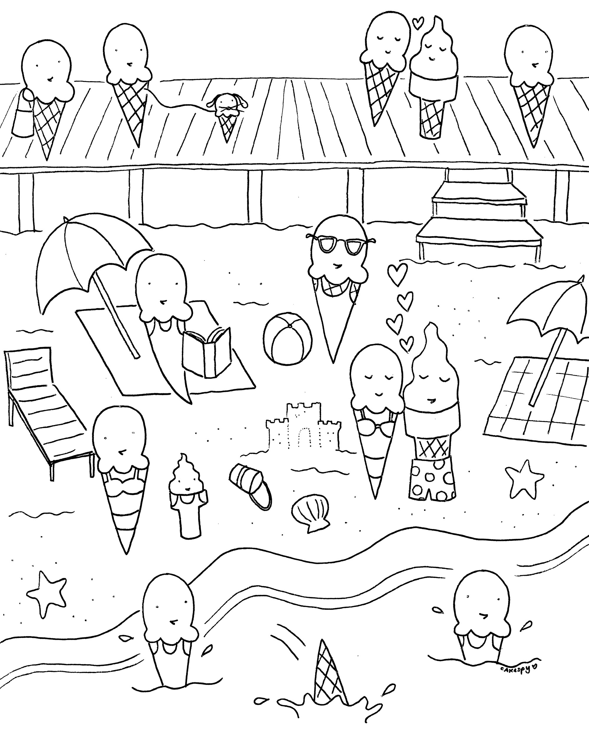Best ideas about Coloring Sheets For Kids Summer Vacation . Save or Pin FREE Downloadable Summer Fun Coloring Book Pages Now.