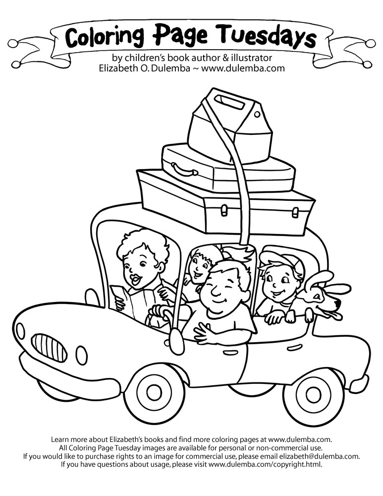 Best ideas about Coloring Sheets For Kids Summer Vacation . Save or Pin Coloring Page Tuesday Vacation Now.
