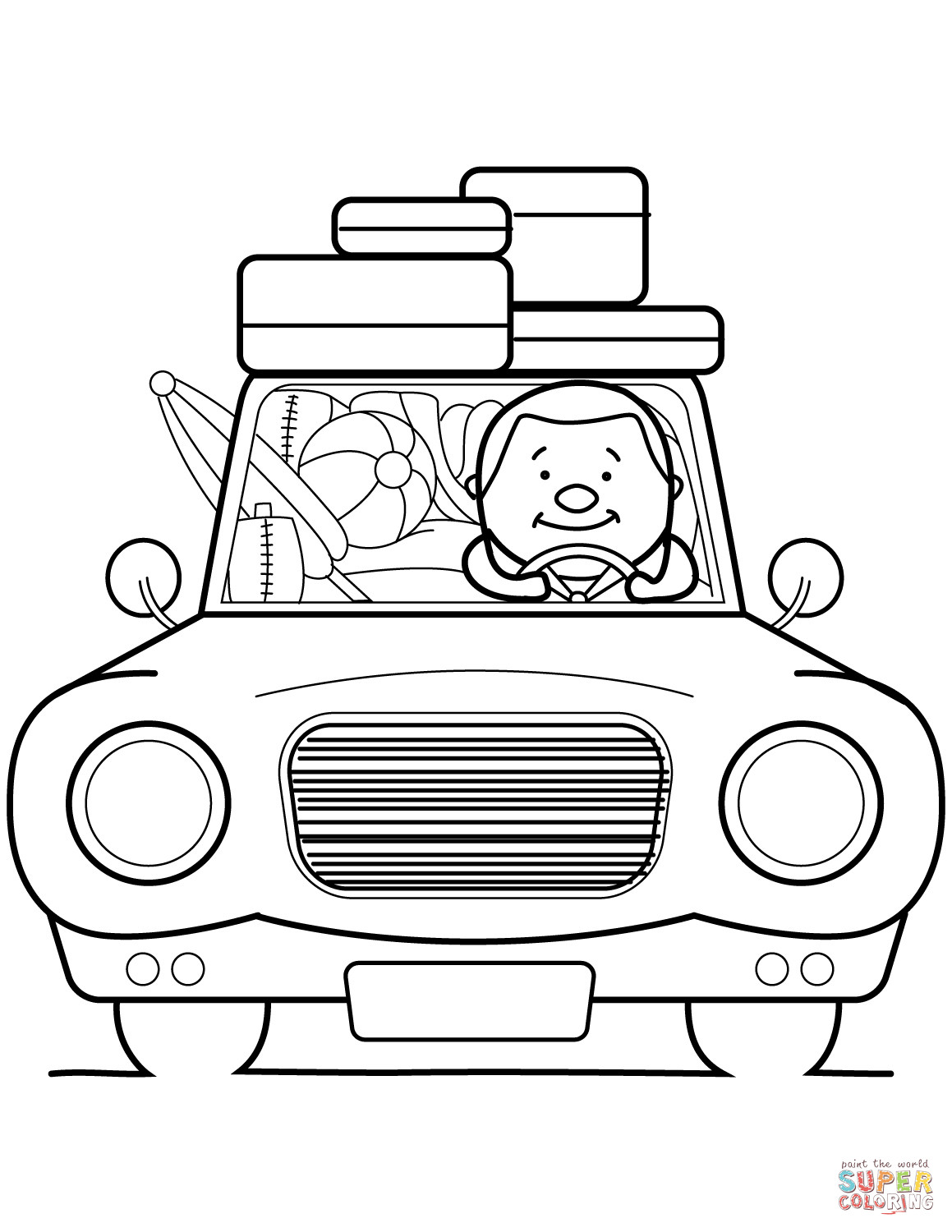 Best ideas about Coloring Sheets For Kids Summer Vacation . Save or Pin Go Summer Vacation coloring page Now.