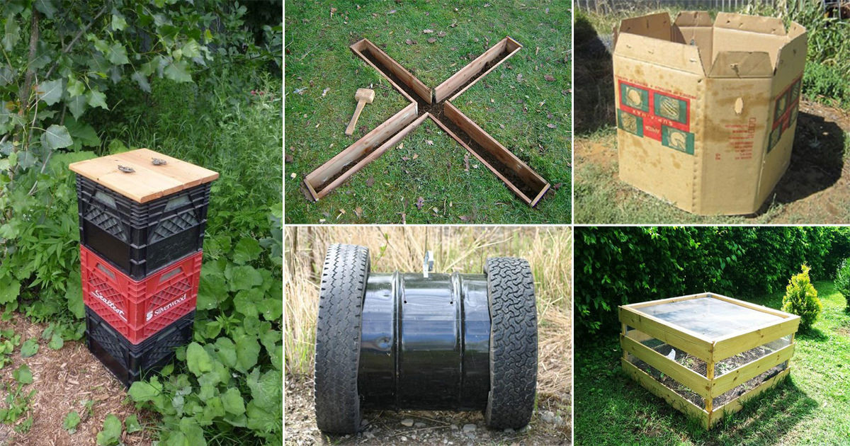 Best ideas about Compost Bin DIY . Save or Pin 27 Functional DIY post Bin Ideas For Gardeners Now.