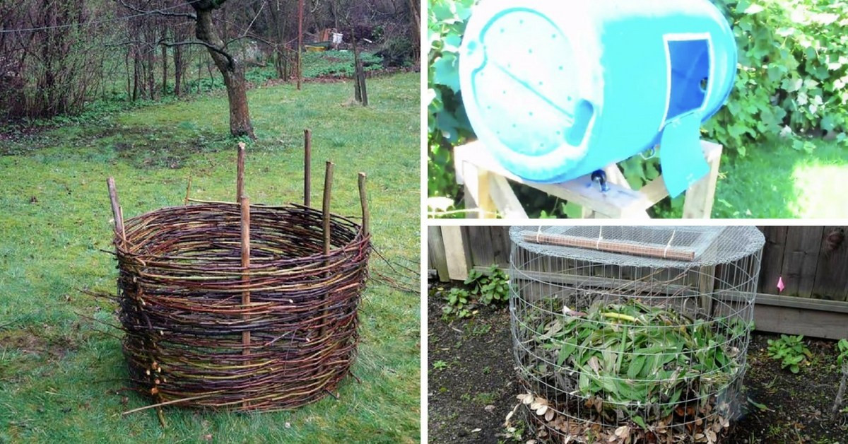 Best ideas about Compost Bin DIY . Save or Pin 7 Easy DIY poster Plans to Build Your Own post Bin Now.