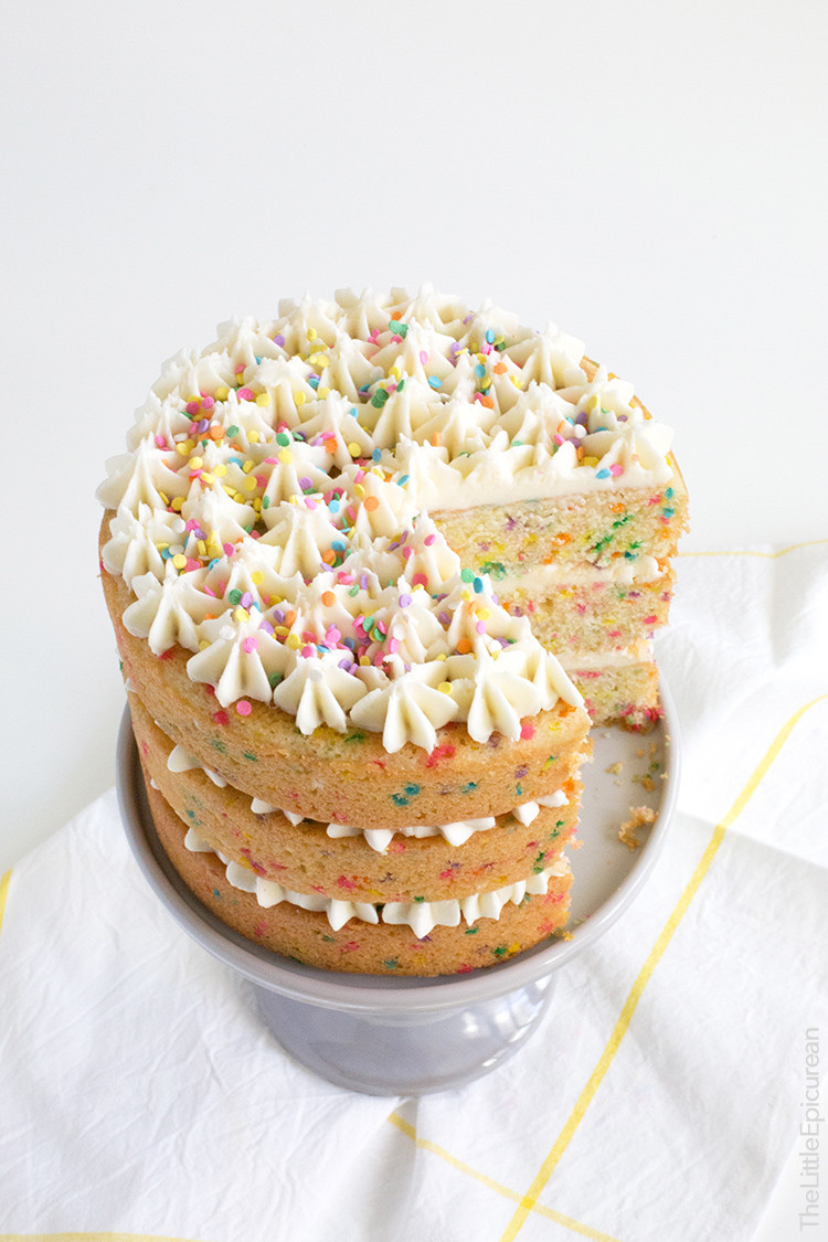 Best ideas about Confetti Birthday Cake . Save or Pin Coconut Confetti Cake with Coconut Buttercream The Little Now.